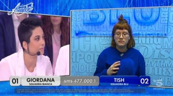 """Amici 18, nuovo scontro tra Tish e Giordana: """"E' stra-aggressiva, ha pregiudizi su di me"""""""