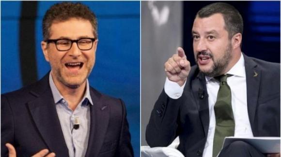 """Botta e risposta Fazio-Salvini. Il ministro: """"si dimezzi lo stipendio"""", il conduttore risponde in TV"""