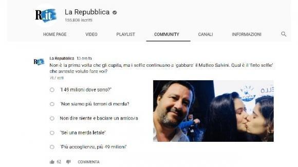 La Repubblica lancia un sondaggio shock su Salvini e scatena la reazione dei lettori