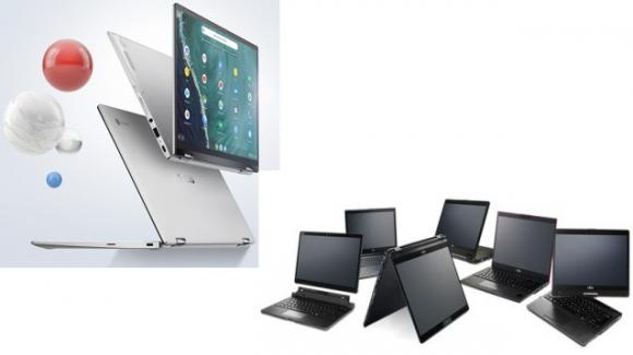 Convertible Day: Asus e Fujitsu presentano nuovi Chromebook e portatili con Windows 10 Pro