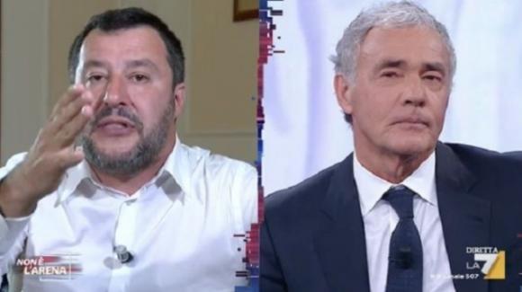 """Salvini, le parole contro Fazio: """"Non sono orgoglioso della disinformazione di qualcuno sulla tv pagata dagli italiani"""""""
