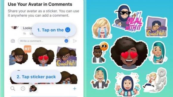 Facebook: sotto indagine per posizione monopolistica, vara i Facebook Avatar
