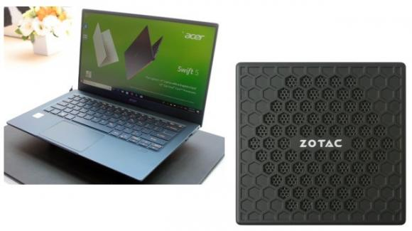 AcerSwift 5 14 (2019) e ZotacPico PI430: notebook e computer compatti dal Computex 2019