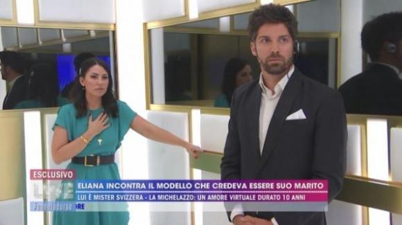 """Live – Non è la D'Urso, l'incontro tra Eliana Michelazzo e il finto marito: """"Ti chiedo scusa, mi vergogno"""""""