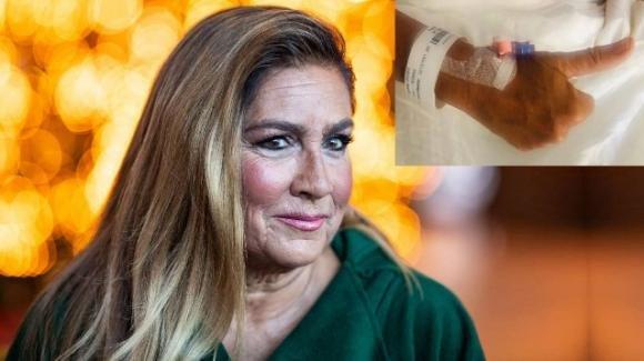 Romina Power ricoverata in ospedale: la foto che preoccupa i fan