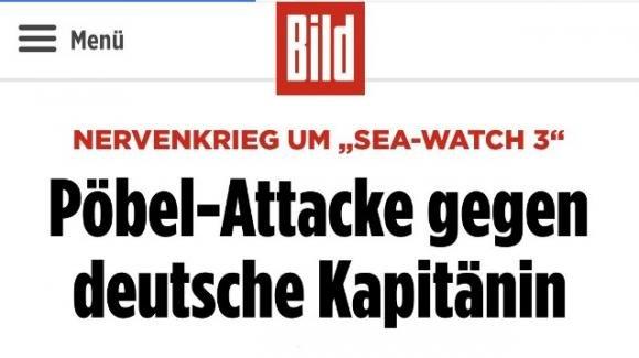 Caso Sea Watch, i tedeschi adesso ci insultano pure: Gli Italiani? Plebaglia