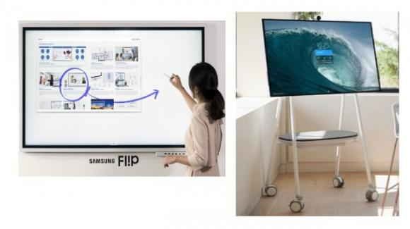 Samsung Flip 2019 e Microsoft Surface Hub 2S: ecco le nuove lavagne interattive per l'ufficio e la didattica