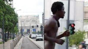 Milano: uomo di colore fa jogging senza vestiti in pieno centro