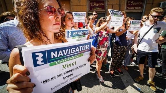 Navigator campani: ancora in protesta per l'assunzione