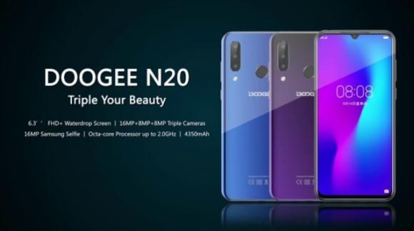 Doogee N20: avvistato il medio-gamma elegante con triplice fotocamera