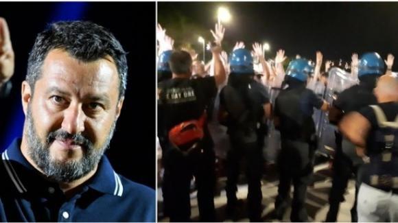 Salvini contestato a Catania, comizio sospeso anche a Soverato