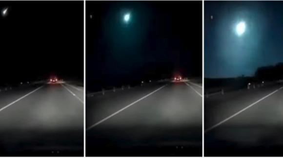 Sardegna: meteorite in caduta visibile ad occhio nudo. La scia luminosa ripresa da una dashcam