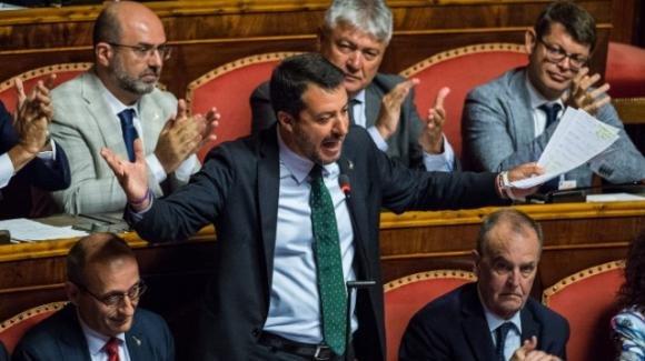 """Salvini risponde a Conte: """"Bastava un Saviano di turno, non un presidente del consiglio"""""""