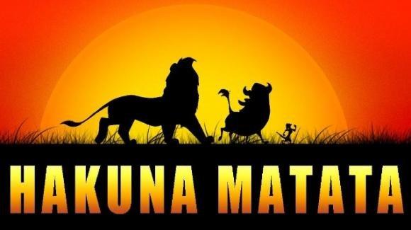 """'Hakuna matata', il canto spensierato di Simba, Timon e Pumbaa nel film """"Il Re Leone"""""""