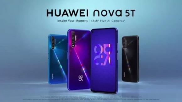 Ufficiale il Nova 5T di Huawei: il medio gamma con scanner laterale e quadrupla postcamera