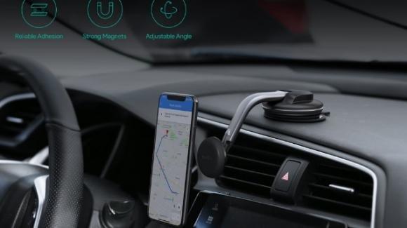 AUKEY HD-C49: il supporto magnetico per smartphone in auto