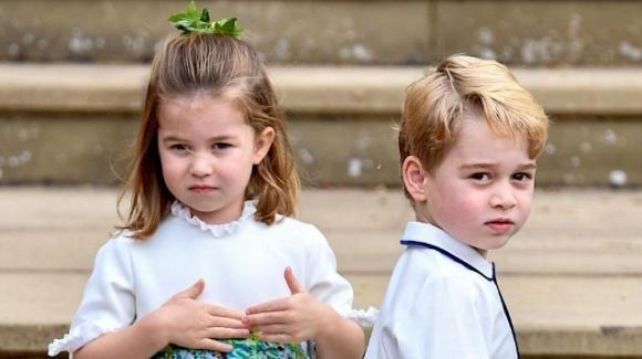 Primo giorno di scuola per i principini Charlotte e George