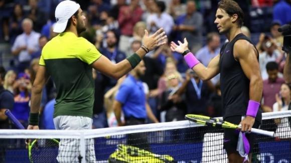 """Us Open, Matteo Berrettini perde ma riceve i complimenti da Rafa Nadal: """"È uno dei migliori al mondo"""""""