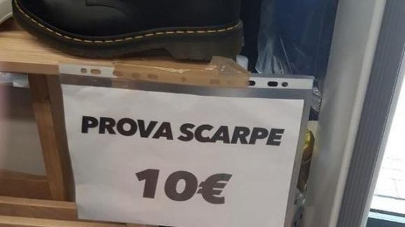 Mirandola: negozio chiede 10 euro solo per far provare le scarpe