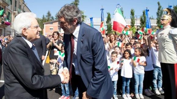 Sergio Mattarella incontra gli studenti a L'Aquila per l'avvio dell'anno scolastico