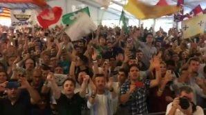 """Un coro di giovani leghisti contro Luigi Di Maio: """"Torna al San Paolo"""""""