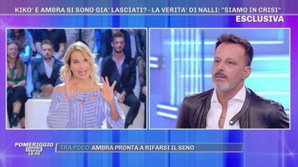 """Pomeriggio Cinque, Kikò Nalli conferma la crisi con Ambra Lombardo ma aggiunge: """"Non ci siamo mai lasciati"""""""