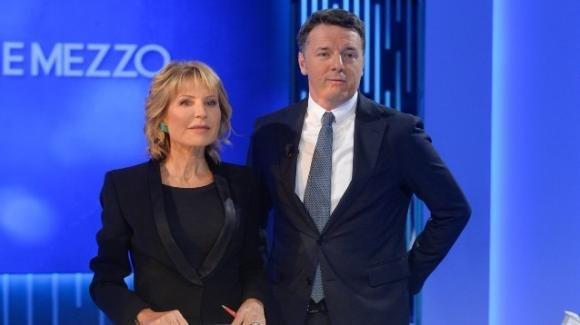 """Matteo Renzi: botta e risposta a """"Otto e Mezzo"""" con la giornalista Lilli Gruber"""