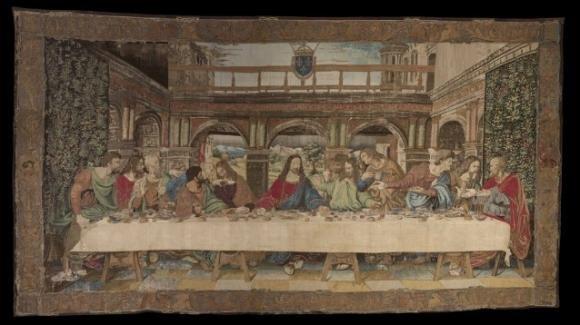In mostra l'arazzo del cenacolo per celebrare il 500esimo anniversario di Leonardo