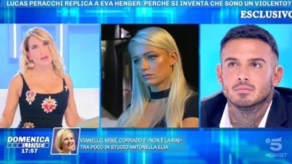 """Domenica Live, Lucas Peracchi risponde alle accuse di Eva: """"Non ha mai messo le mani addosso a Mercedesz"""""""