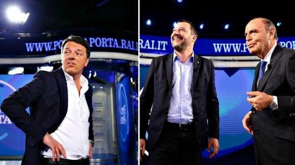 Porta a Porta: Renzi ricorda a Salvini che in 27 anni non ha portato a casa un risultato