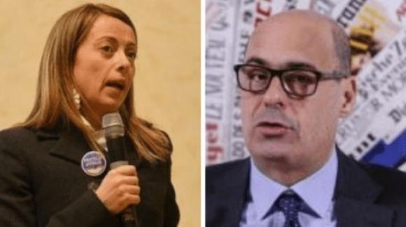 Giorgia Meloni critica Nicola Zingaretti per aver cambiato opinione su Virginia Raggi