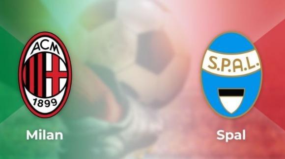 Serie A Tim, Milan-SPAL: probabili formazioni, orario e diretta tv
