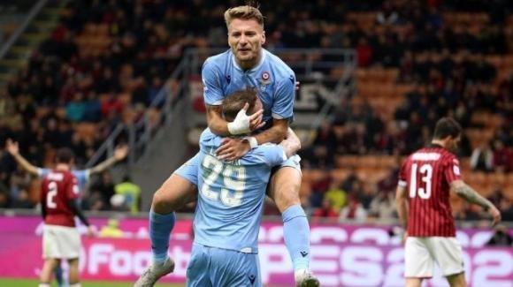 La Lazio espugna San Siro dopo 30 anni, Immobile arriva a 100 gol
