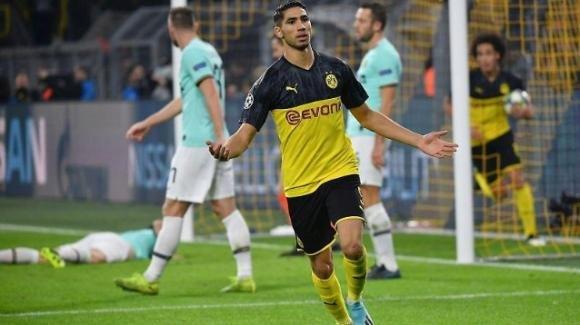Champions League: Inter avanti 0-2 a Dortmund si fa rimontare dal Borussia