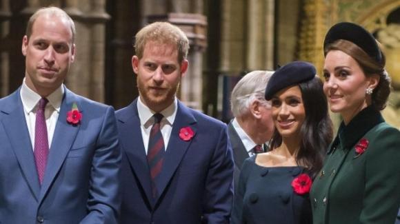 William e Kate e Harry e Meghan insieme ad un evento pubblico