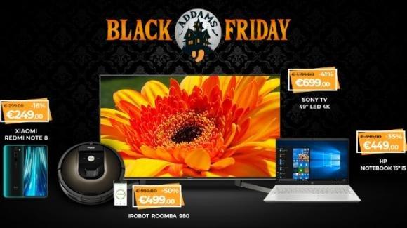 Unieuro Black Friday: arrivano corposi sconti su televisori e smartphone