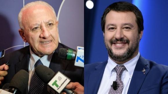 Vincenzo De Luca contro Matteo Salvini, con frecciatina a Luigi Di Maio