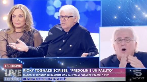 """Live – Non è la D'Urso, Marco Predolin attacca Ricky Tognazzi: """"Finalmente guardo in faccia questo stron*o"""""""
