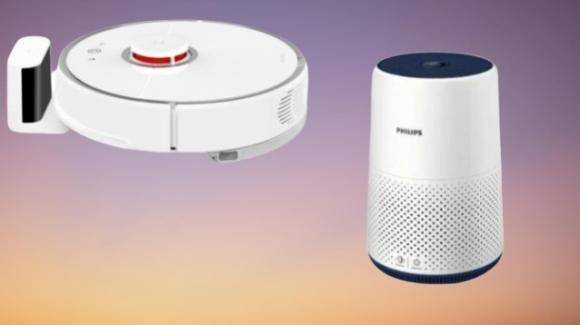 Casa pulita grazie agli aspirapolvere e purificatori d'aria smart di Xiaomi e Philips