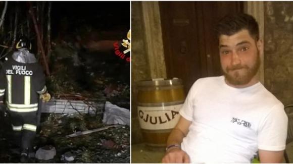 Ascoli Piceno: 26enne cade dal dirupo per spegnere l'incendio