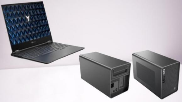 Lenovo Legion Y740S: dal CES 2020 l'ultrabook per il gaming con GPU dedicata esterna
