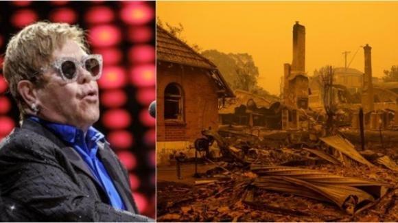 Elton John dona 1 milione di dollari contro gli incendi in Australia