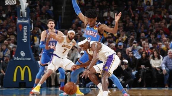 NBA, 11 gennaio 2020: Lakers senza big e vincenti in casa Thunder, i Bucks conquistano Portland
