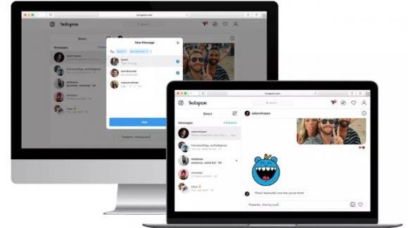 Instagram: in test i messaggi privati, DM, anche da computer