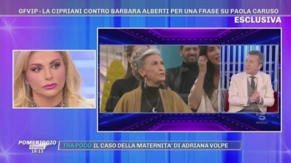 """Pomeriggio Cinque, Francesca Cipriani attacca Barbara Alberti: """"Ce l'ha con le donne"""""""