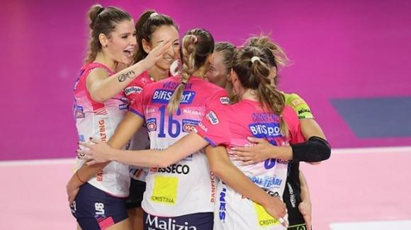 Samsung volley: Novara vince 3-0 contro Brescia