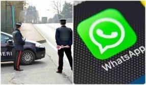 Il giudice: creare gruppi WhatsApp per segnalare posti di blocco non è reato