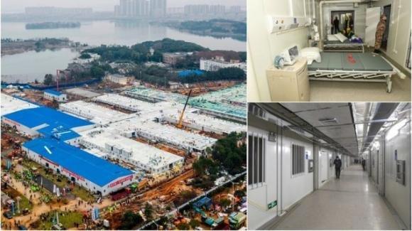 Coronavirus: costruito in 10 giorni l'ospedale di Wuhan