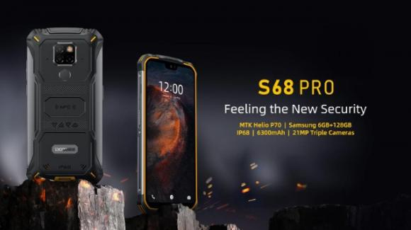 Doogee S68 Pro: ufficiale il nuovo rugged phone con videocamera notturna