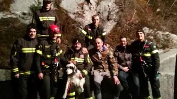 Cane disperso per 5 giorni, recuperato sul monte Raut
